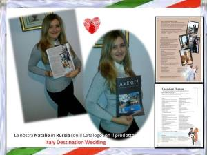 NATALIE CON IL CATALOGO AMENITE IN RUSSIA