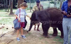 Ely con l'elefantino Shrilanka.JPG 03