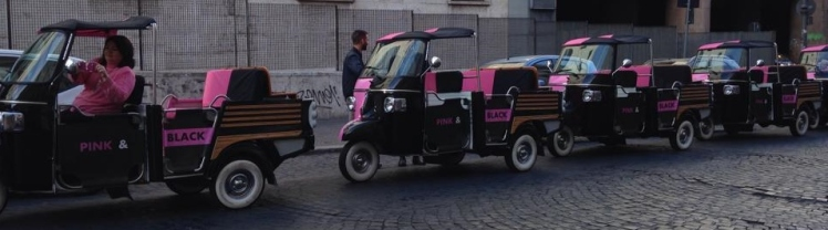 Gioia Cafaro, special  driver ApeRomaTour, per Magnum