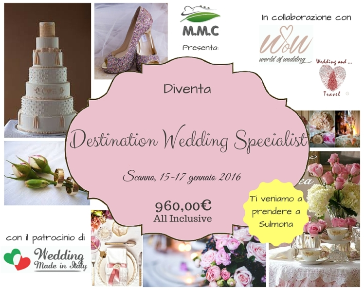 DESTINATION WEDDING SPECIALIST 15-17 GENNAIO 2016